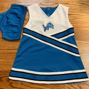 NFL apparel Detroit Lions cheerleader dress 2T